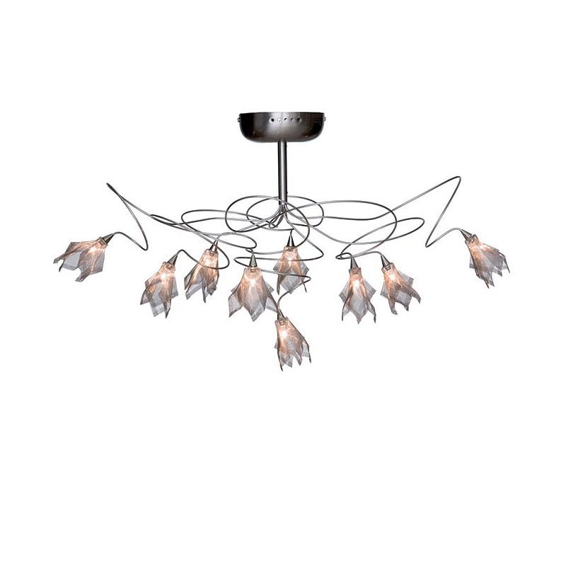 Hanglamp 9753ST Gramineus - zwarte sizoflor - Steinhauer